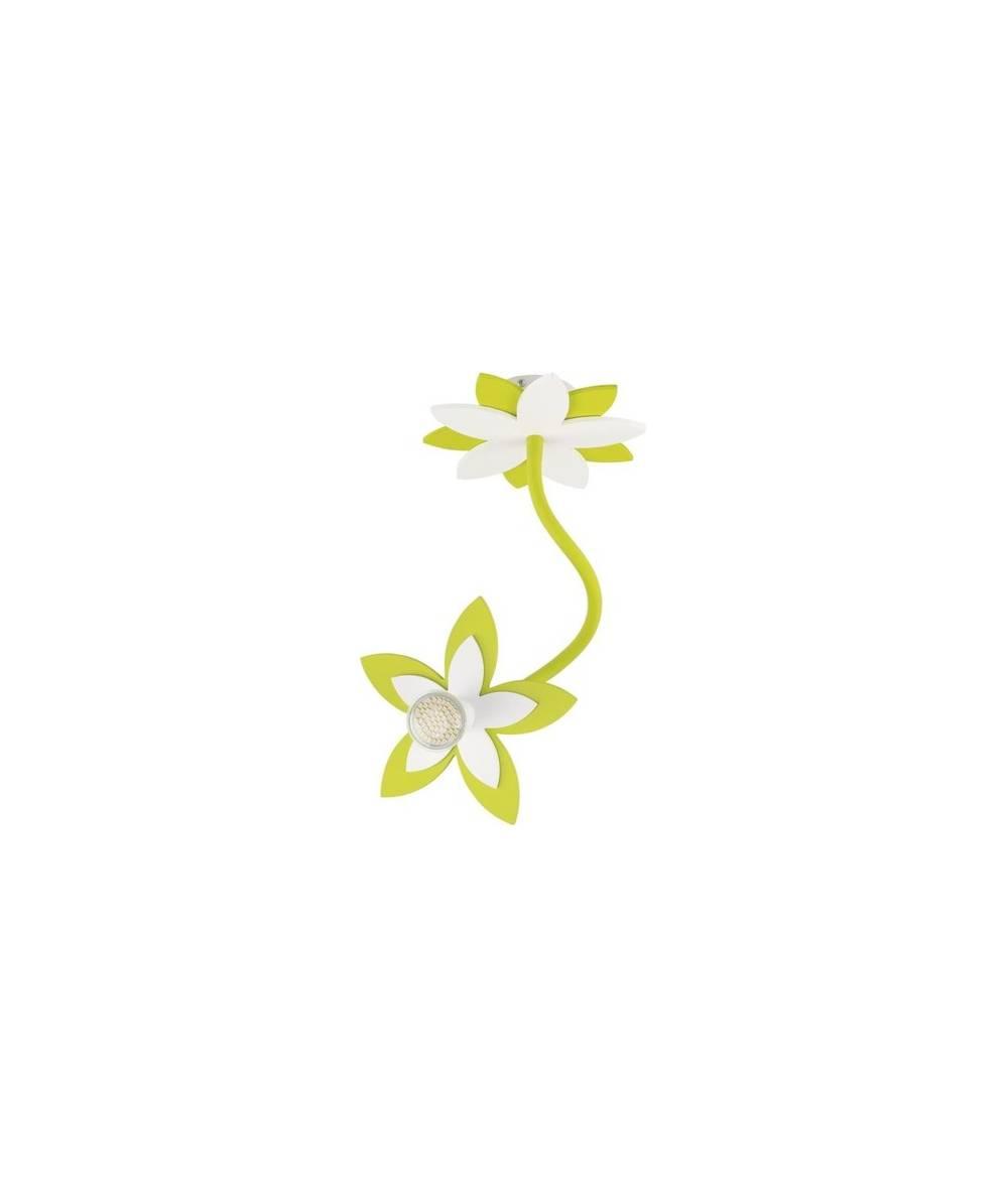 Nowodvorski - lampa do pokoju dziecięcego FLOWERS GREEN 50cm - 6897