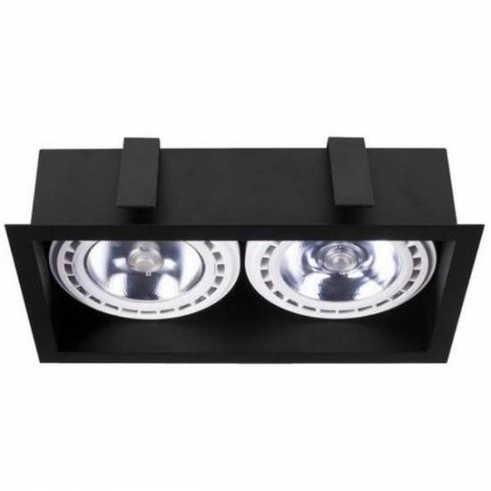 Nowodvorski - Lampa wpuszczana dwupunktowa MOD BLACK - 9416