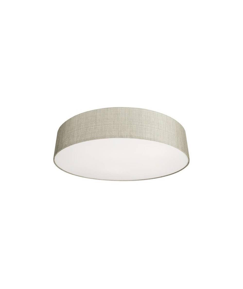 Nowodvorski - Lampa sufitowa/ plafon z abażurem TURDA VII szary/ srebrny - 8960