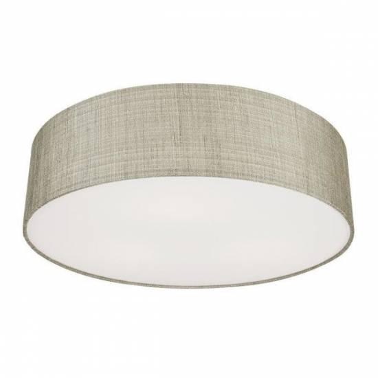 Nowodvorski - Lampa sufitowa/ plafon z abażurem TURDA III szary/ srebrny - 8953