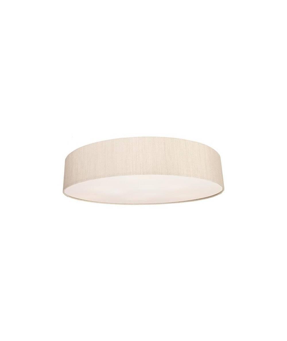 Nowodvorski - Lampa sufitowa/ plafon z abażurem TURDA VII biały/ srebrny - 8958