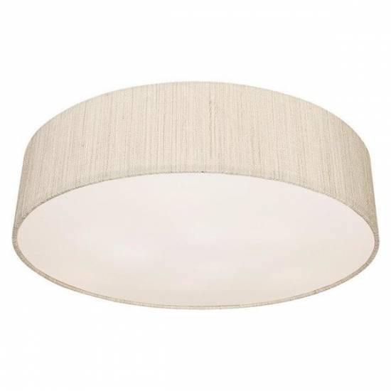 Nowodvorski - Lampa sufitowa/ plafon z abażurem TURDA III biały/ srebrny - 8952
