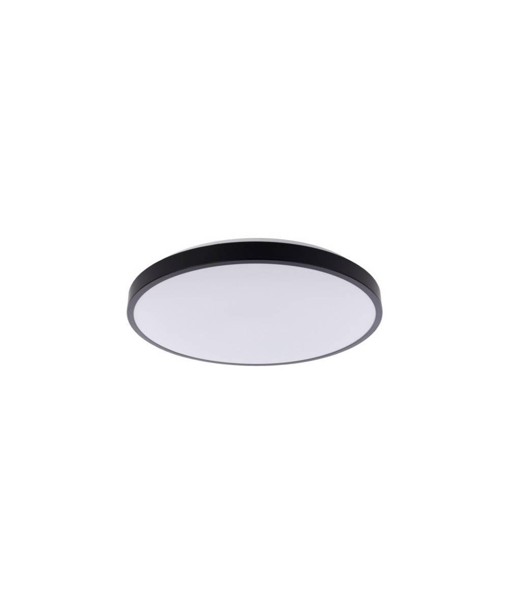 Nowodvorski - plafon AGNES ROUND LED 32W czarny śr. 48,5cm 3000K - 8205