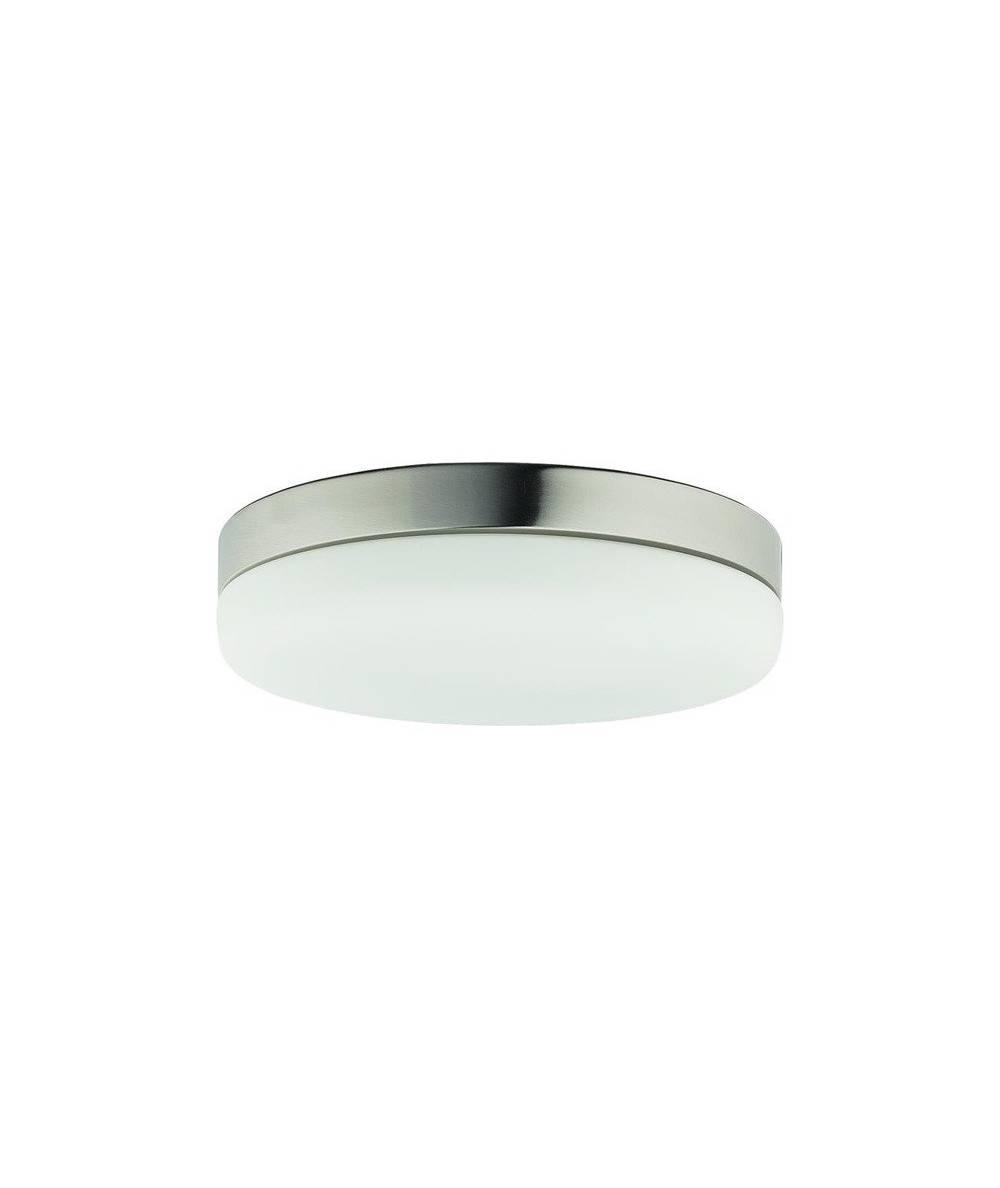 Nowodvorski - plafon szklany KASAI SENSOR nikiel/biały śr. 32cm - 8828