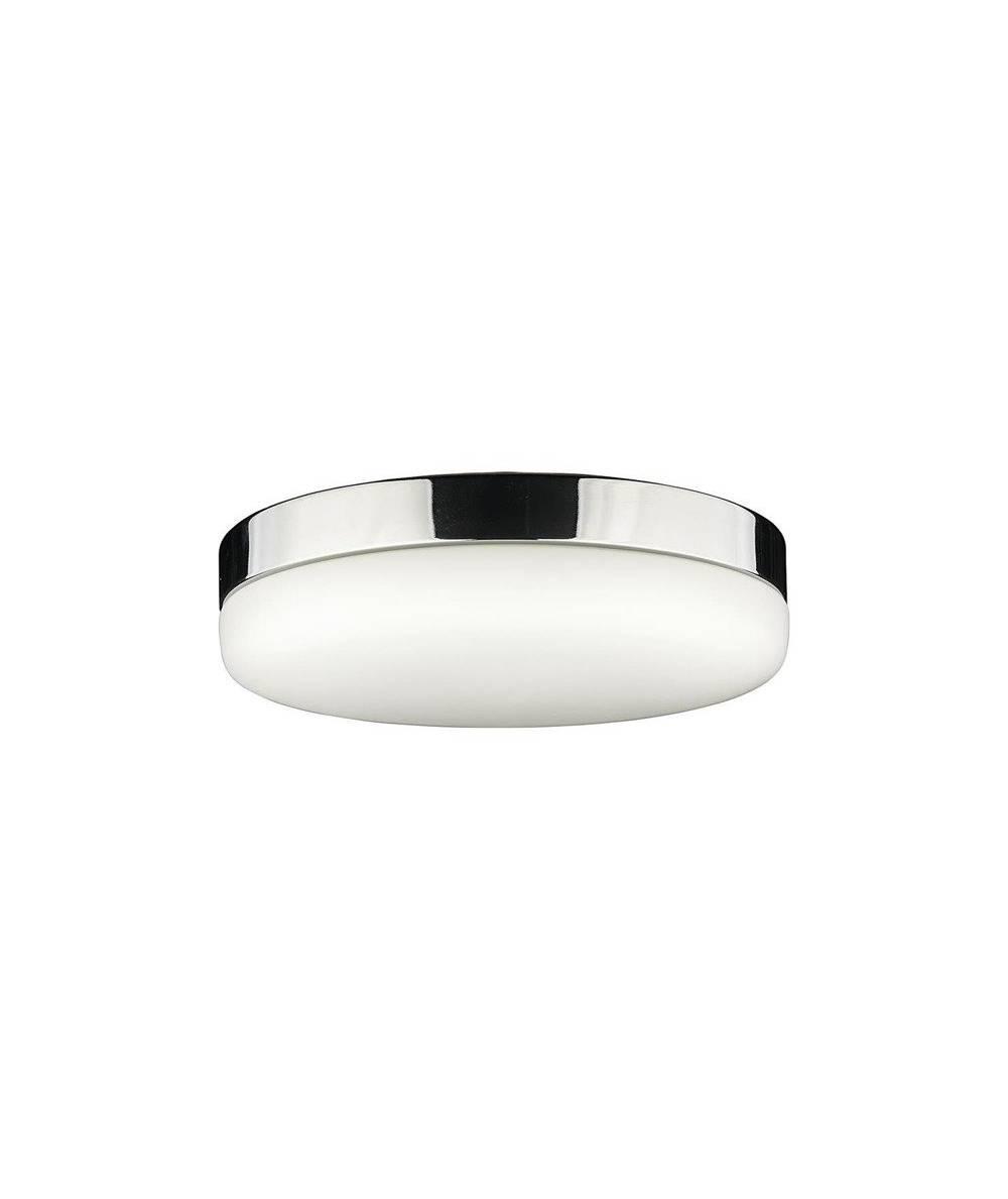 Nowodvorski - plafon szklany KASAI SENSOR chrom/biały śr. 32cm - 8827