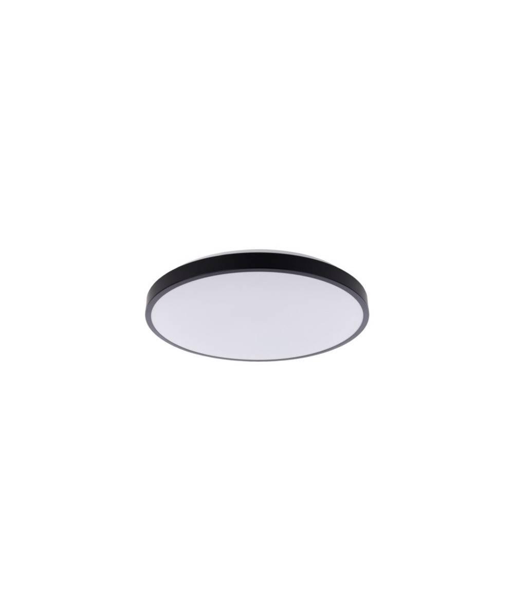 Nowodvorski - Nowodvorski - plafon AGNES ROUND LED 22W czarny śr. 38,5 cm IP20 4000K - 9161