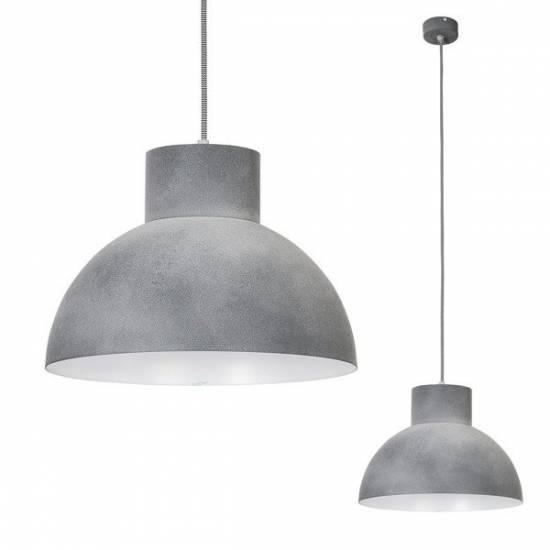 Nowodvorski - lampa wisząca WORKS CONCRETE szara 33cm - 6510