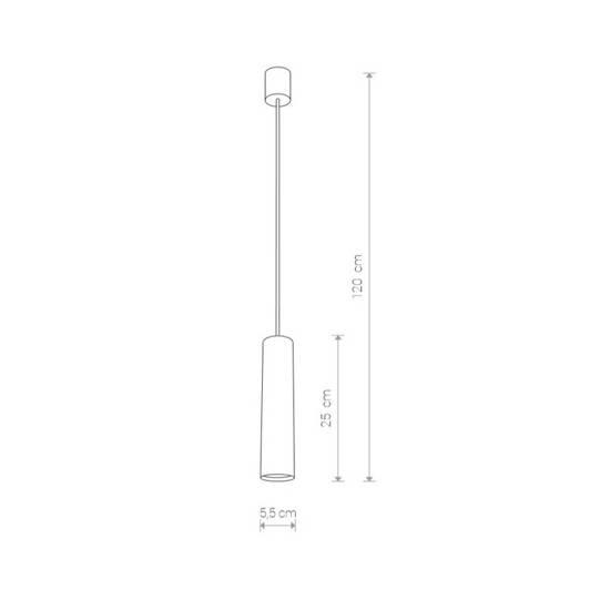 Nowodvorski - lampa wisząca EYE BRASS M mosiądz śr. 5,5cm - 8914