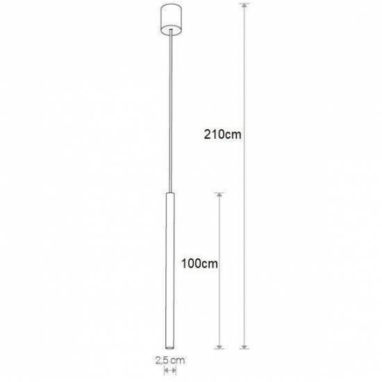 Nowodvorski - lampa wisząca LASER 1000 WHITE 210cm - 8435