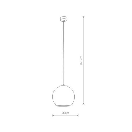 Nowodvorski - lampa wisząca POLARIS I transparentny/chrom śr. 25cm - 9060