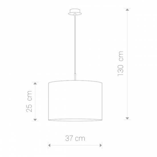 Nowodvorski - lampa wisząca ALICE Ecru śr. 37cm - 3458