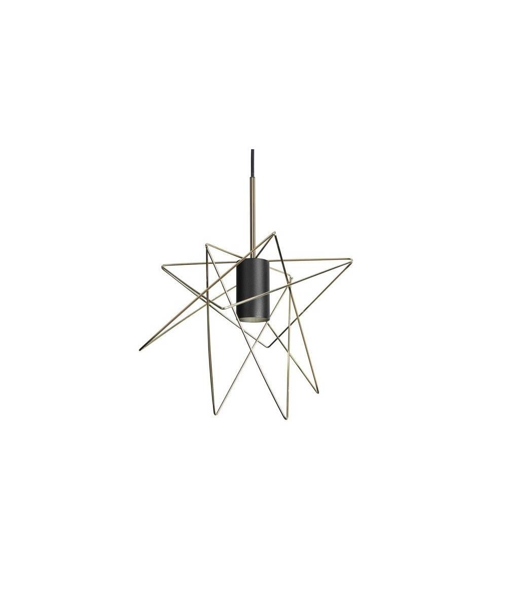 Nowodvorski - Lampa wisząca druciana GSTAR złoty/czarny śr. 30cm - 8854