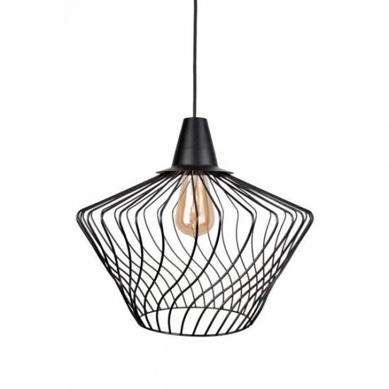Nowodvorski - Lampa wisząca WAVE S czarny śr. 40cm - 8858
