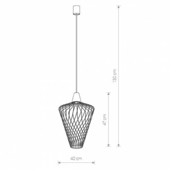 Nowodvorski - Lampa wisząca WAVE L biały śr. 40cm - 8855