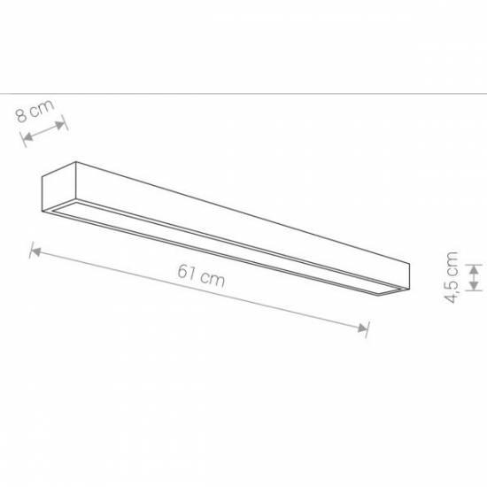 Nowodvorski - kinkiet KAGERA LED M chrom 61cm - 9503