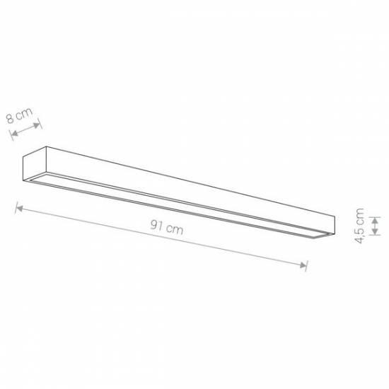 Nowodvorski - kinkiet KAGERA LED L chrom 91cm - 9502
