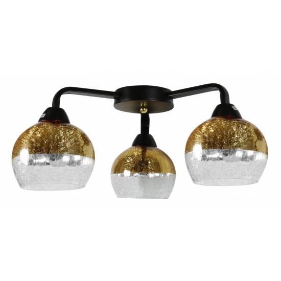 CROMINA GOLD AMPLA 3X60W E27 CZARNY
