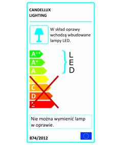 PRISMA PLAFON 5X3W LED CHROM