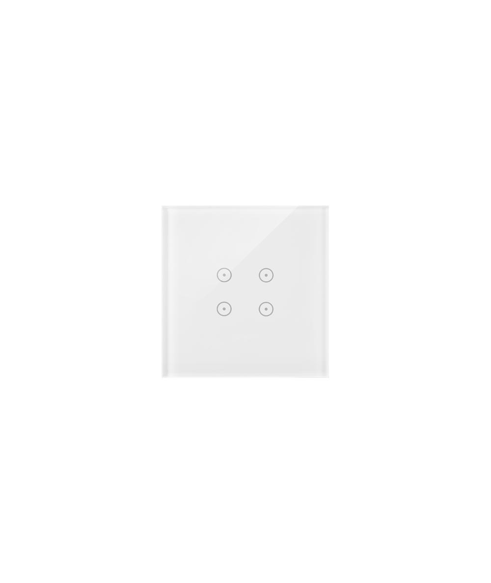 Simon54 – Panel Dotykowy 1 Moduł 4 Pola Dotykowe, Biała Perła