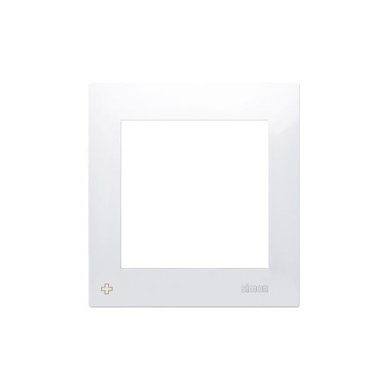 Simon54 – Ramka 1- Krotna Do Puszek Karton-Gips Antybakteryjny Biały
