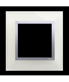 Simon 54 Nature – Ramka 1-Krotna Szklana Srebrna Mgła