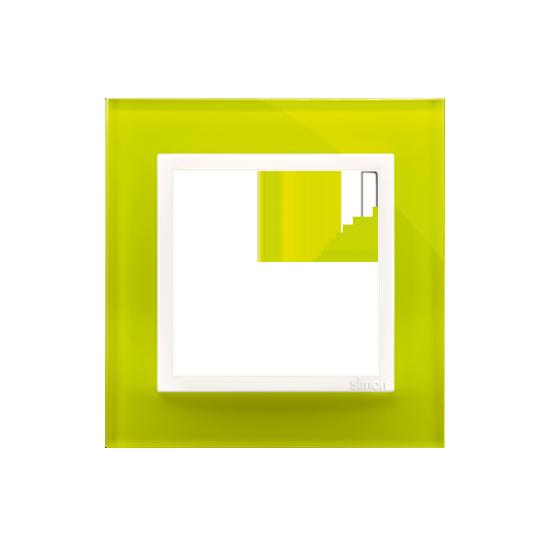 Simon 54 Nature – Ramka 1-Krotna Szklana Limonkowy Sorbet