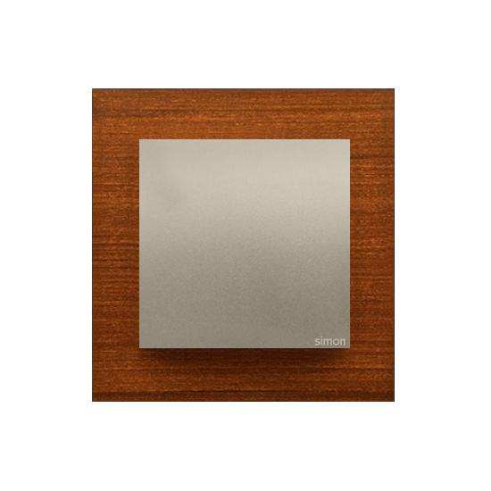 Simon 54 Nature – Ramka 1-Krotna Drewniana Złoty Orzech