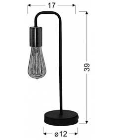 HERPE LAMPKA GABINETOWA 1X60W E27 CZARNY