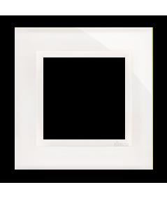 Simon 54 Nature- Ramka 1-krotna szklana biała perła
