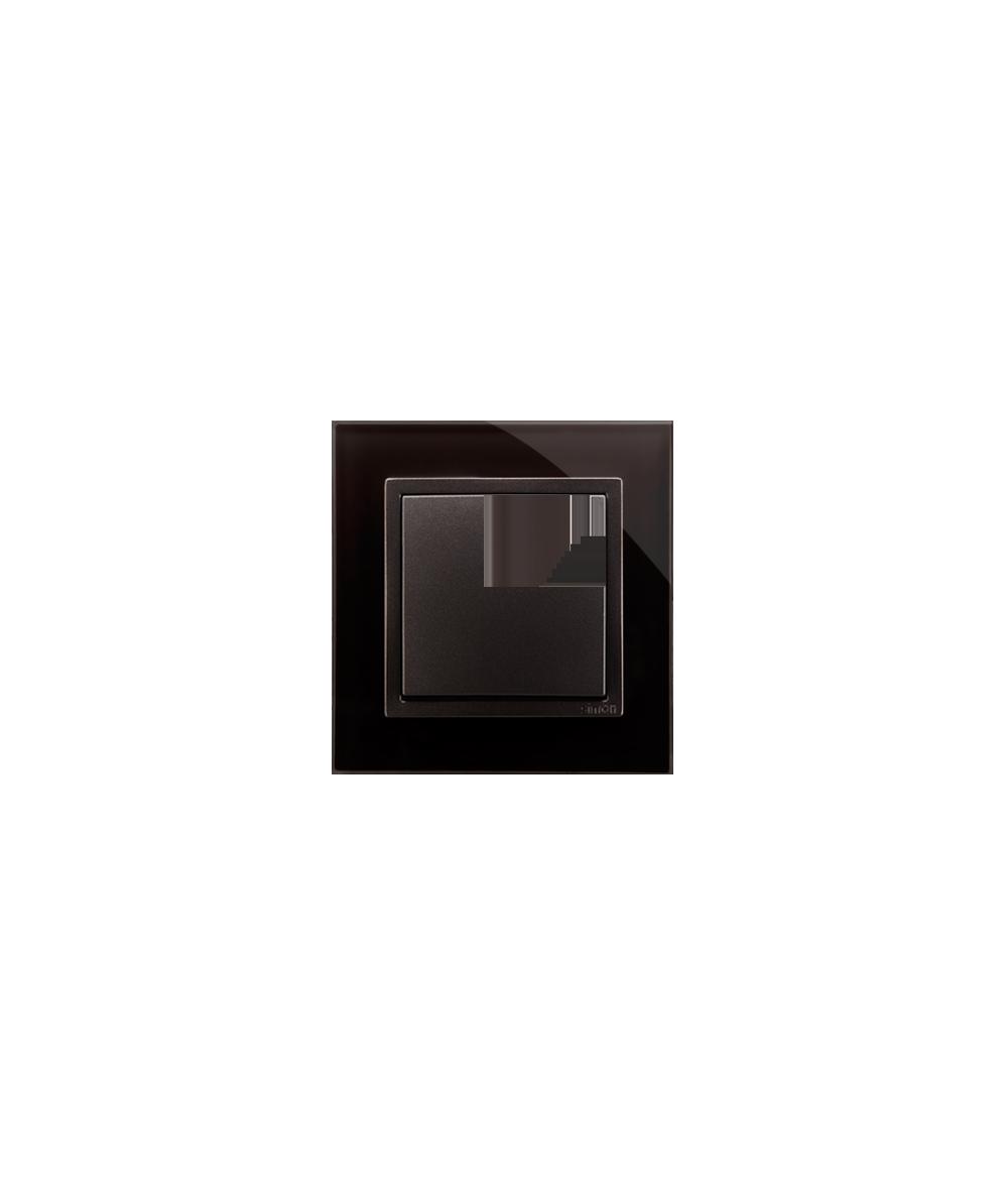 Simon 54 Nature- Ramka 1-krotna szklana zastygła lawa